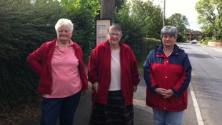 Three women from Fenny Drayton, in Leicestershire, who rely on the No. 7 bus service to Nuneaton