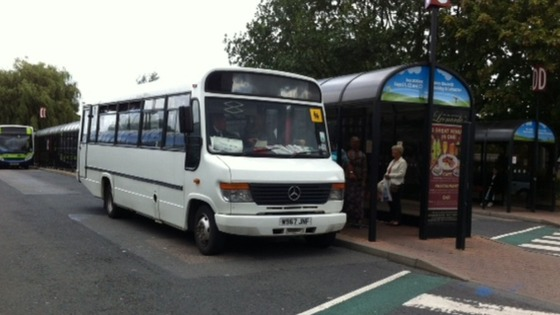 The number 7 bus from Ashby to Nuneaton, one of the threatened routes