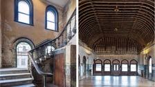 Peckham Rye station waiting room and stairs