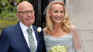 Newlyweds Rupert Murdoch and Jerry Hall celebrate wedding for second time at Fleet Street church