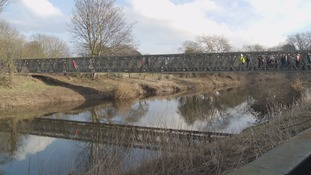 Temporary footbridge in Tadcaster