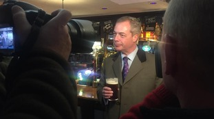 Nigel Farage celebrated his canvassing in a Thornbury pub