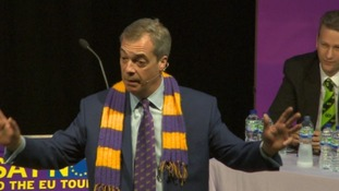 Nigel Farage addresses UKIPs South West conference