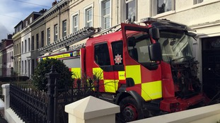 The stolen fire engine