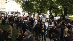 US Embassy protesters in London