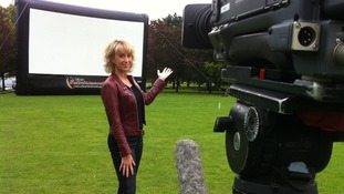 Weather presenter Emma Jesson prepares for Grease drive-in movie night