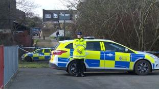Police at murder scene in Harlow.
