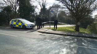 Officers have been combing the area around the footpath