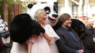 Jack Black and Kate Hudson red carpet for Kung Fu Panda.