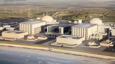Computer image of the new Hinkley Point C power plant
