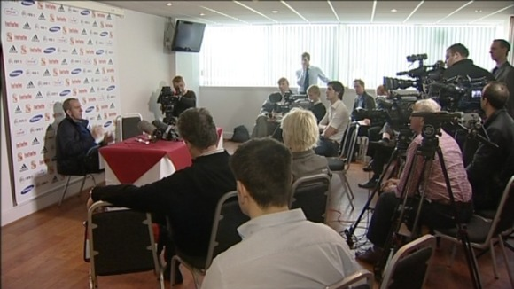 Paolo Di Canio & media at press conference
