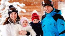 The Cambridges with their children, Charlotte and George.