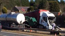 Crash scene on the M6