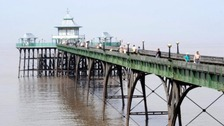 146-year-old Clevedon Pier is the only Grade 1 listed pier in the country