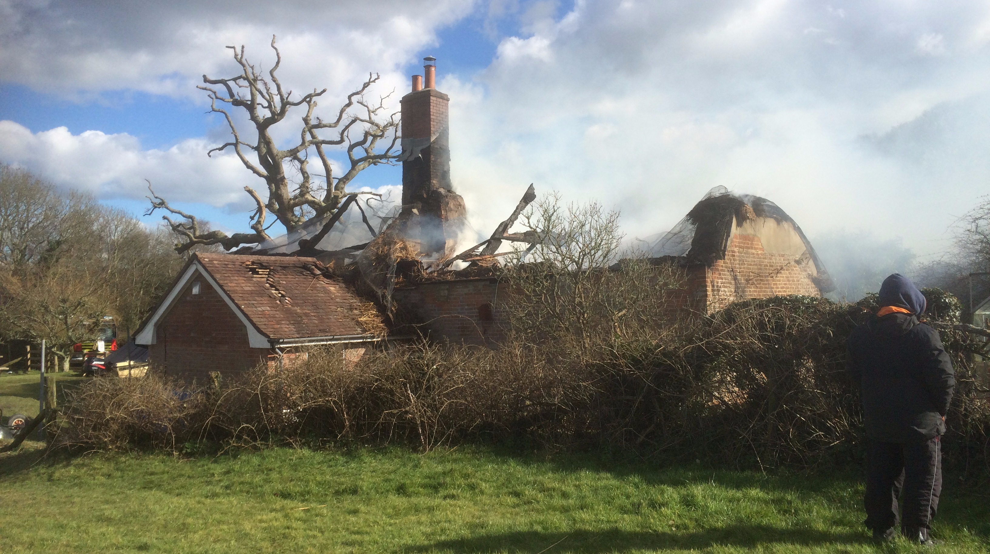 Two Thatched Cottages Severely Damaged By Fire Meridian