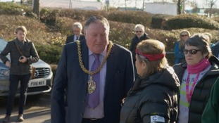 Carlisle's Mayor welcomes the Beijing Biddies and Babes home