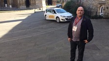 Robert Simons who has been driving taxis for 12 years