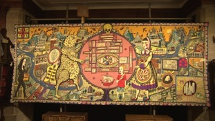 Rare Grayson Perry tapestry on show to public