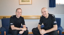 Chief Superintendent Gary Ritchie (left) and Chief Superintendent Mike Leslie