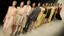 Models on the catwalk during the Maria Grachvogel Spring/Summer 2013 show