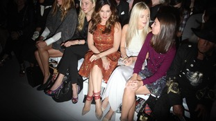 Kelly Brook attends the Bora Aksu fashion show