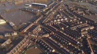 Flooding in Carlisle after Storm Desmond