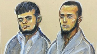 Shazib Ahmed Khan, left, is on trial alongside his nephew Junead Ahmed Khan.