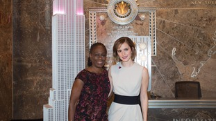 Chirlane McCray and Emma Watson