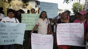 Activists marched in El Salvador
