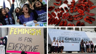 In pictures: How International Women's Day was marked in countries around the world