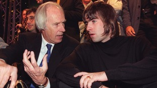 George Martin and Liam Gallagher in 1999