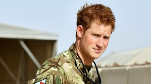 Prince Harry pictured recently in Camp Bastion in Afghanistan.