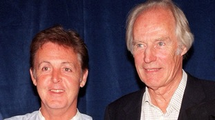 Paul McCartney and George Martin in 1997