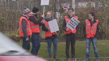 Picket line at Carlisle's Cumberland Infirmary