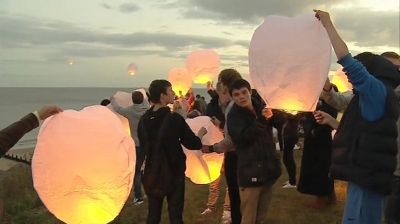 Lanterns are lit for Jay Whiston