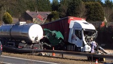 One of two serious accidents on the M6.