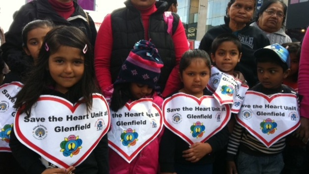 Children join protest in Leicester