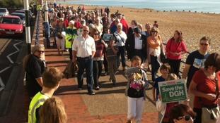 Big turnout for hospital protest