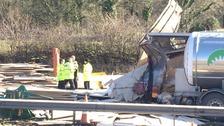 Scene of the M6 crash