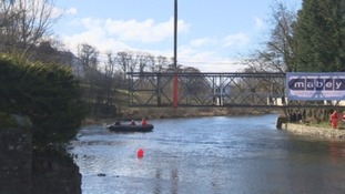 Temporary structure at Pooley Bridge