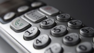 General view of a cordless telephone