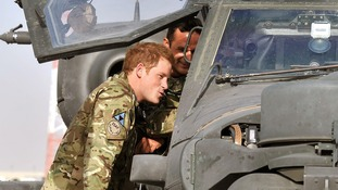 Prince Harry in Afghanistan.