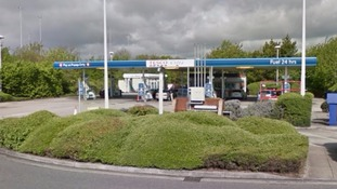 Human remains found next to Tesco petrol station