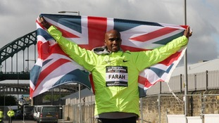 Mo Farah pictured ahead of the event in Newcastle.