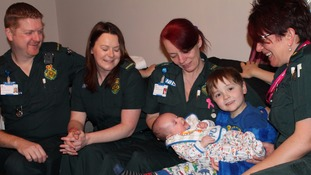 Mother praises paramedics who saved newborn's life