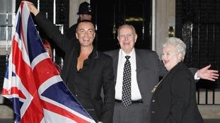 Julian Macdonald and parents
