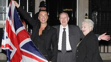 Julian Macdonald and parents