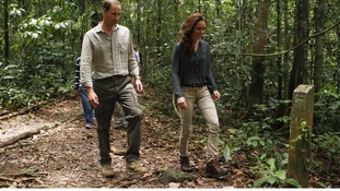The Duke and Duchess of Cambridge visited a research centre in the Borneo rainsforest on Saturday.