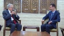 Syrian peace envoy Lakhdar Brahimi met President Bashar al-Assad in Damascus