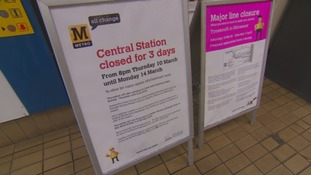 The Metro station will be closed for three days.